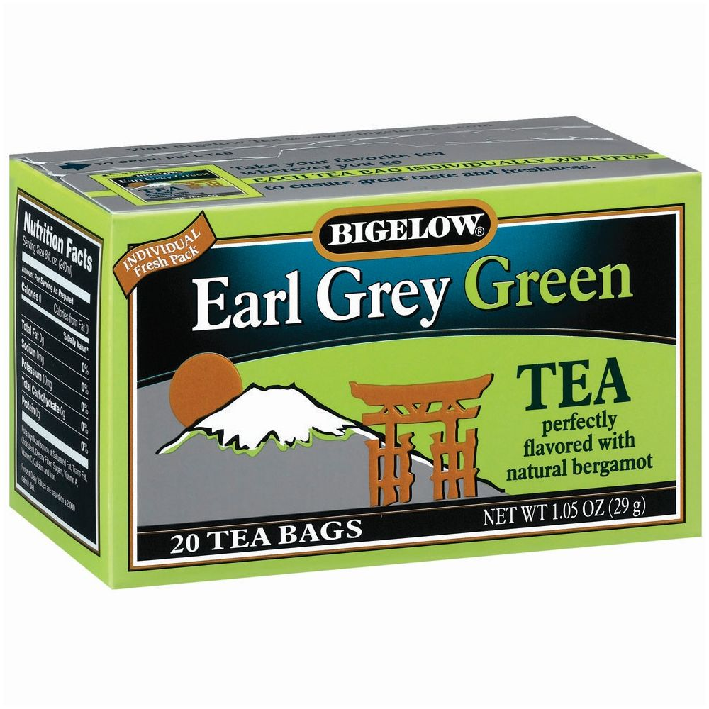 Bigelow® Earl Grey Green Tea, Individually Foil Wrapped