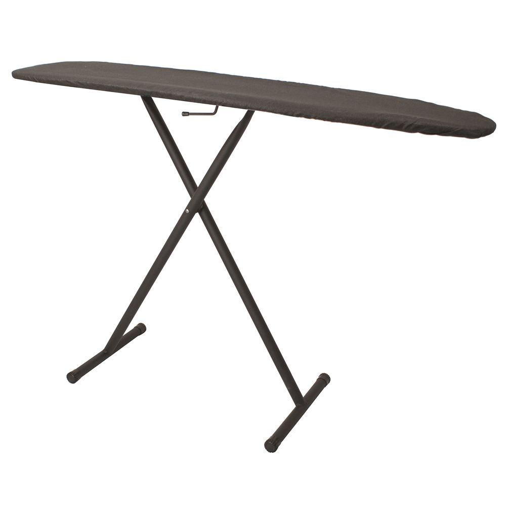 "Hospitality 1 Source Full Size T-Leg Ironing Board, 53""x14"", Charcoal Pad and Cover"
