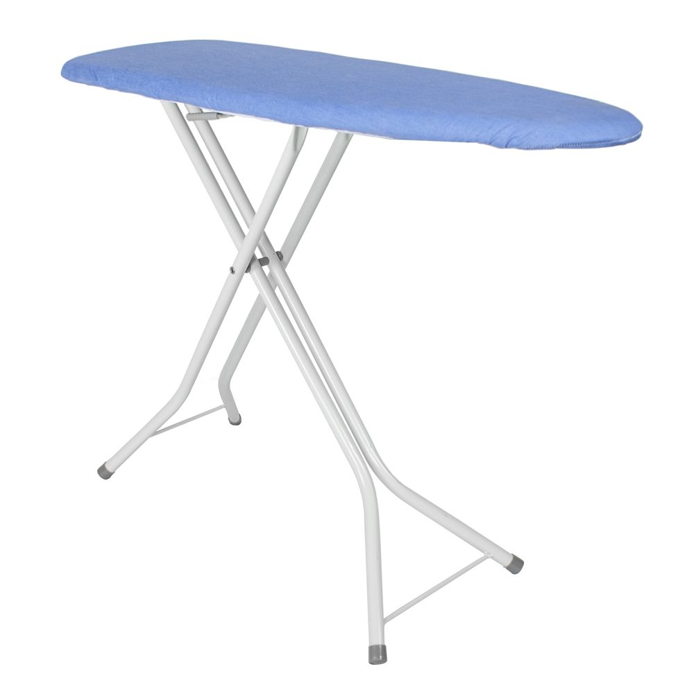 "Pressto Valet Compact Dual-Leg Ironing Board, 40""x13"", Blue Cover"