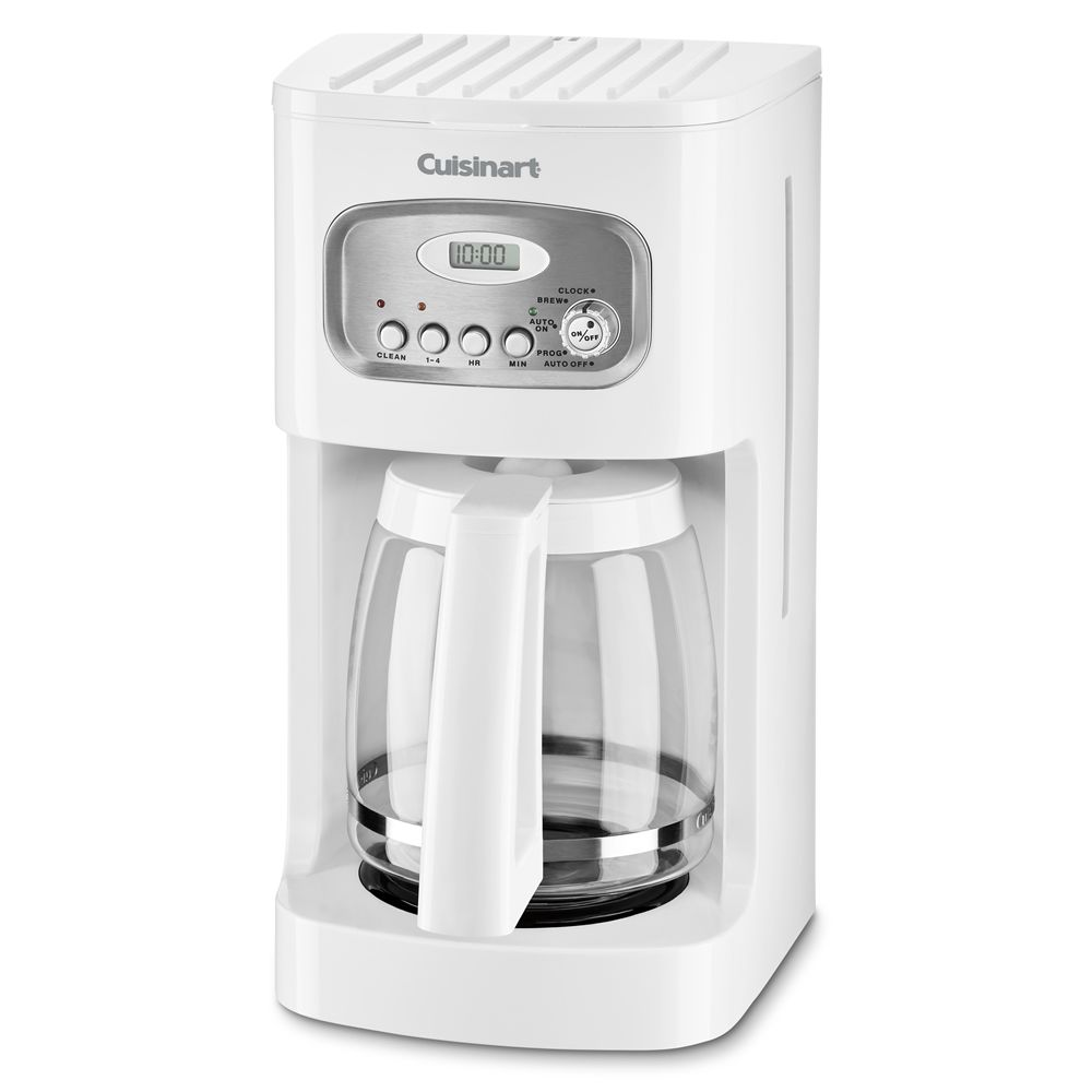 Cuisinart® 12-Cup Programmable Coffeemaker, White with Stainless Accents