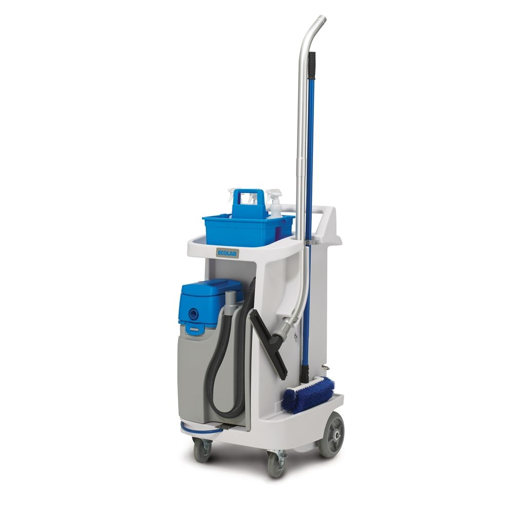 Ecolab® Cleaning Caddy with On-Board Wet Vacuum, White