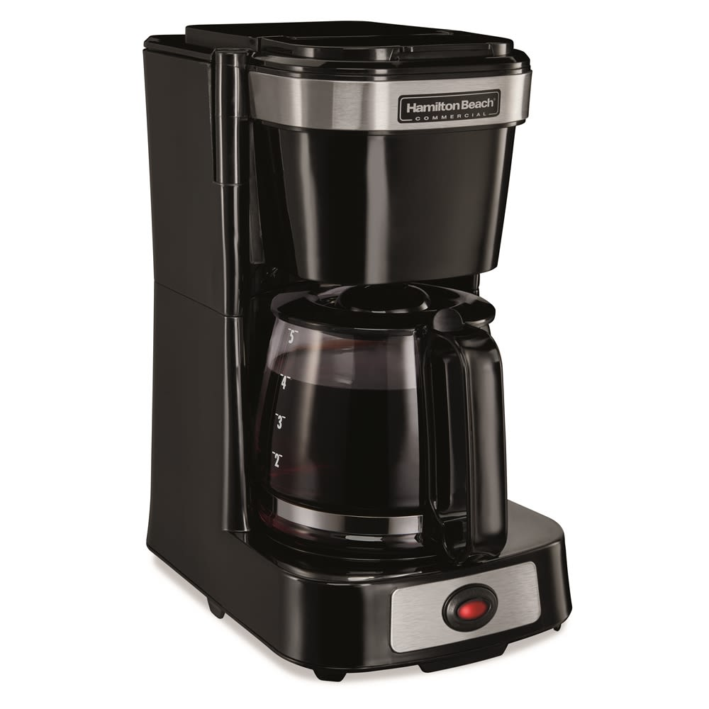 Hamilton Beach® 4-Cup Coffeemaker with Glass Carafe, Pause & Serve, Black