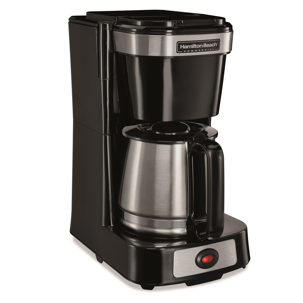 Hamilton Beach® 4-Cup Coffeemaker with Stainless Carafe, Pause & Serve, Black