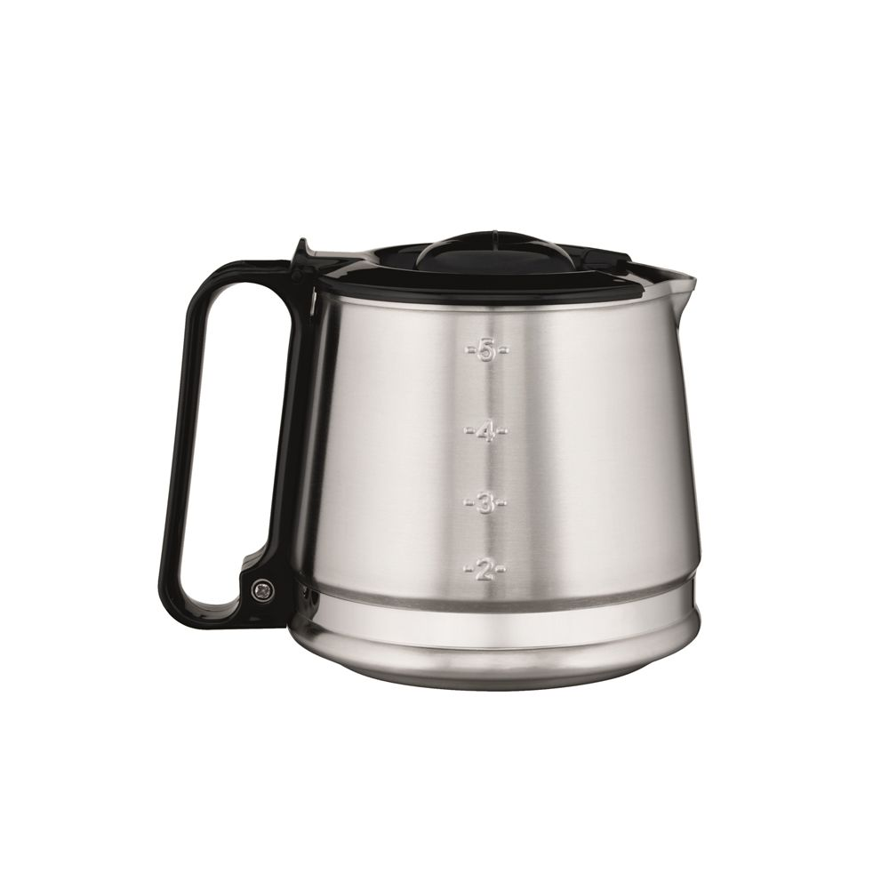 Hamilton Beach® 4-Cup Stainless Replacement Carafe, Black Handle & Lid