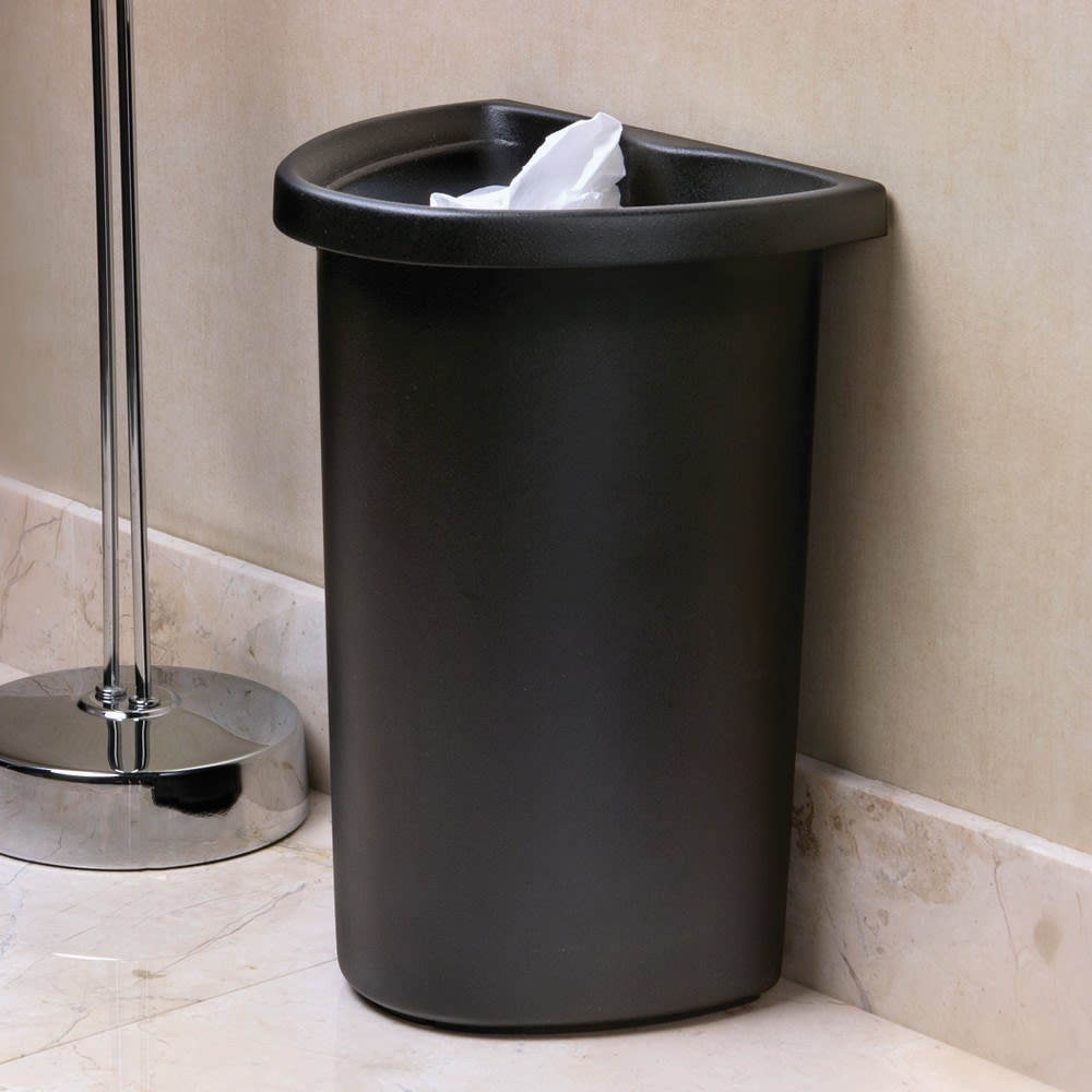 5 Quart Recycle Insert/Vanity Wastebasket, Black with Recycle Decal