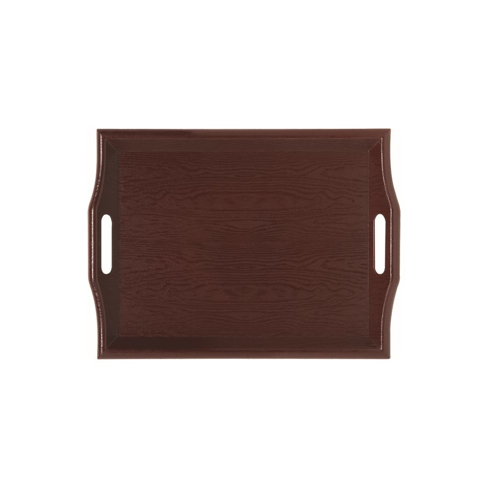 Rectangular Wood Room Service Tray, Mahogany