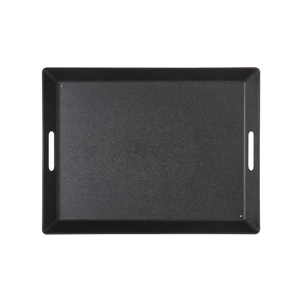 Rectangular Plastic Room Service Tray, Black