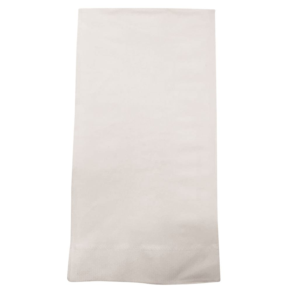 Dinner Napkin, 3-Ply, 13x17, 1/6 Fold, White