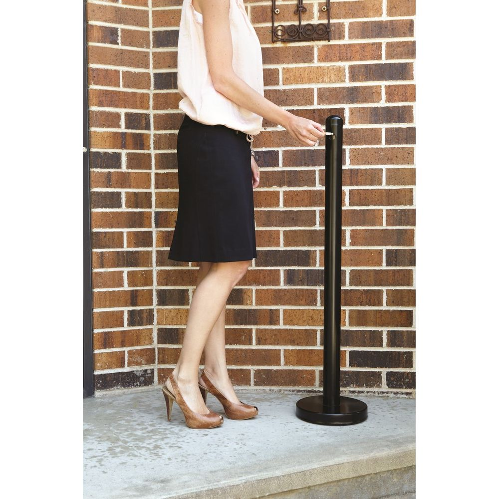 American Metalcraft® Smokers Pole, Free-Standing 15 in DIA x 40 in H, Black Matte