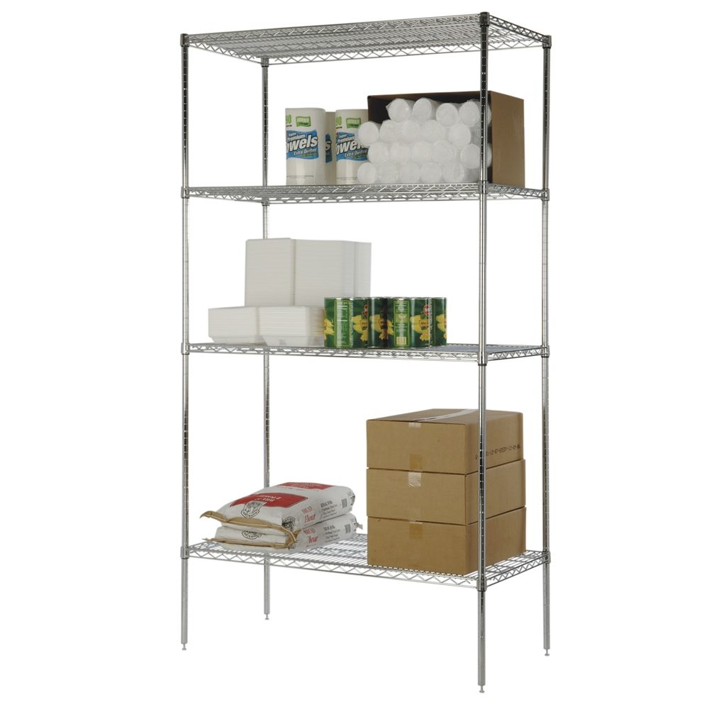Focus Chromate 4-Shelf Kit, 24x36x74