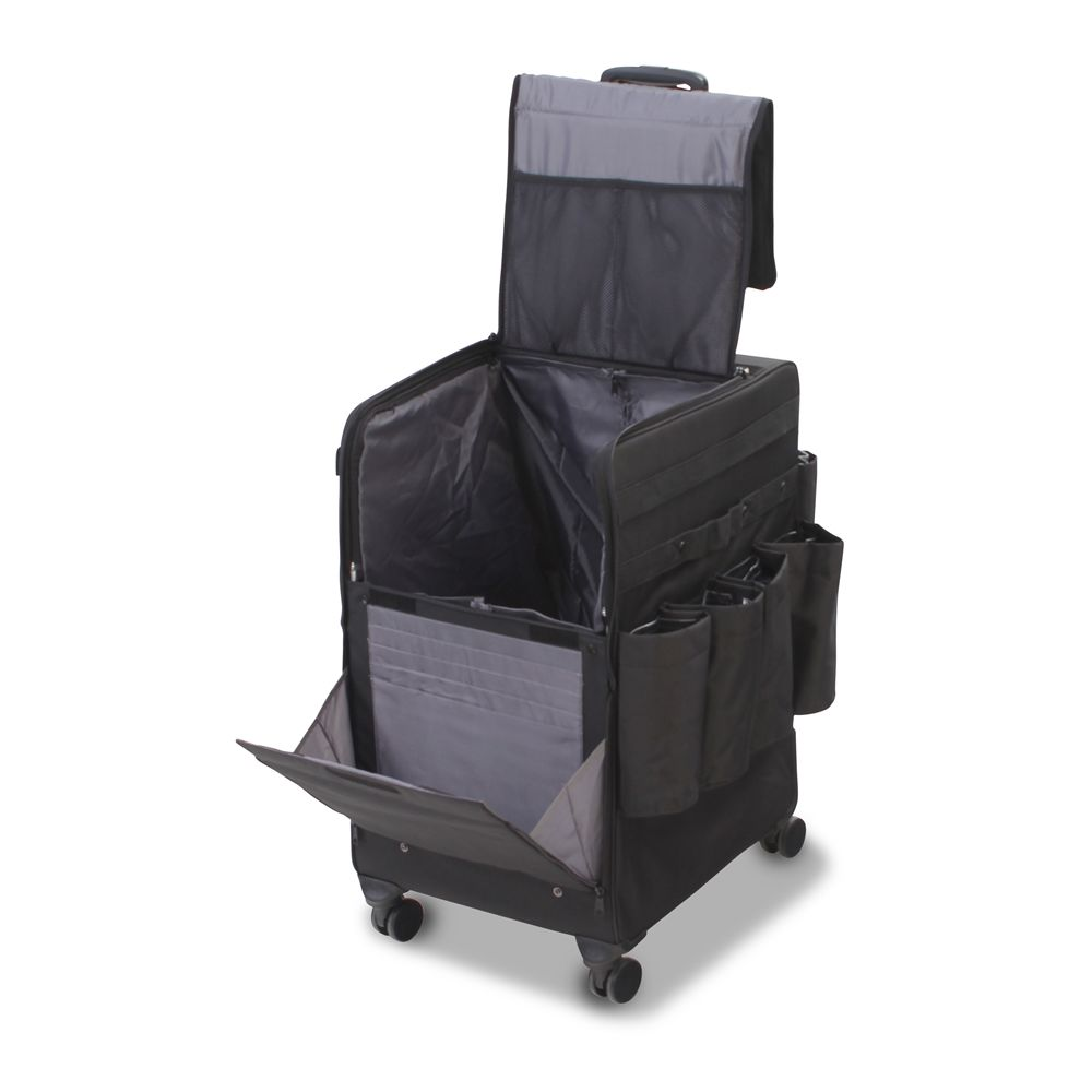 Forbes® Large Mini-Roller Housekeeping Cart, 20 in x 16 in x 28.75 in, Four Swivel Casters, Black