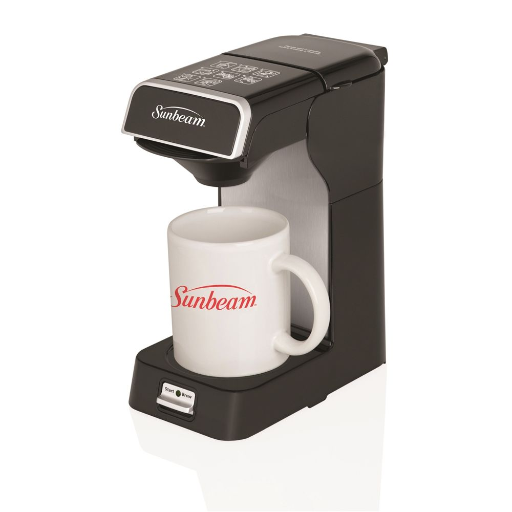 Sunbeam® Single Serve Coffeemaker, Black with Silver Accents