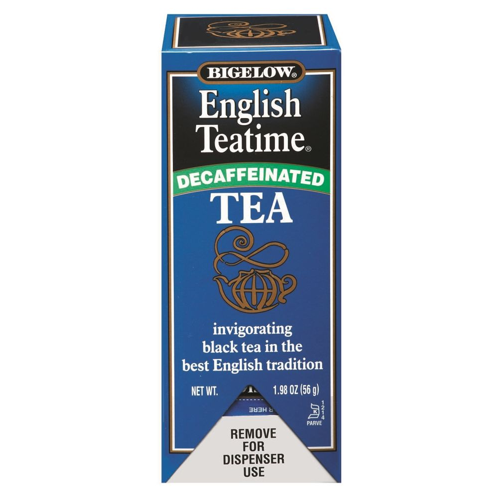 Bigelow® English Teatime, Decaffeinated, Individually Foil Wrapped