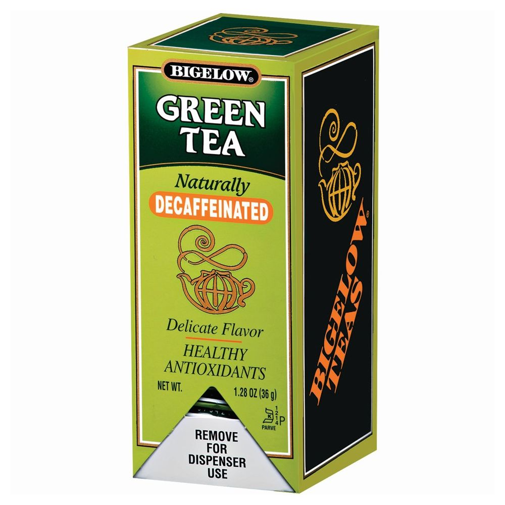 Bigelow® Green Tea, Decaffeinated, Individually Foil Wrapped