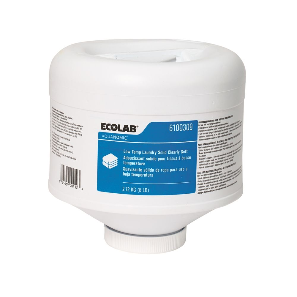 Ecolab® Low Temp Laundry Solid Clearly Soft 6lb