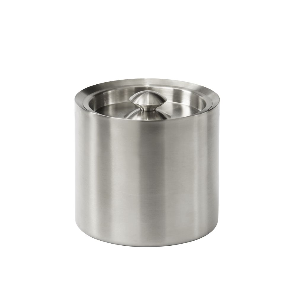 Brushed Barware Collection, 3 Quart Ice Bucket, Brushed Stainless Steel