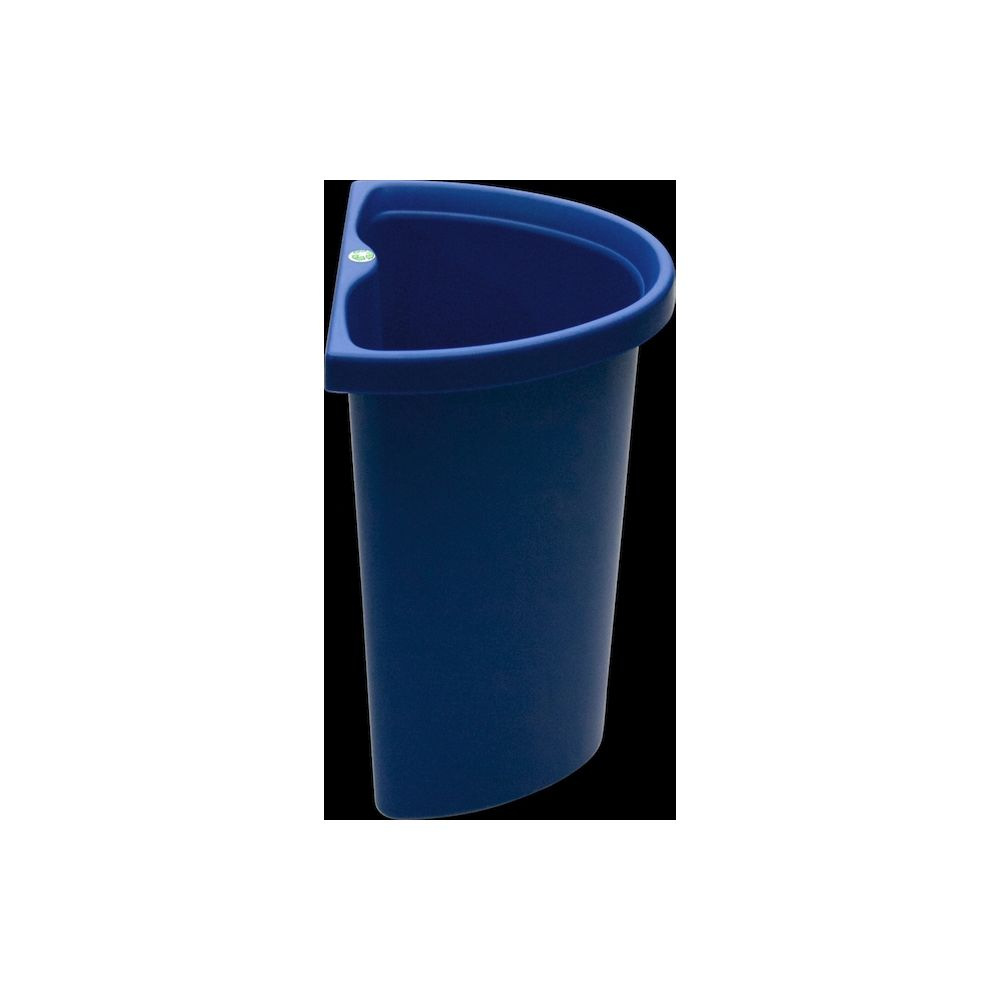 5 Quart Recycle Insert/Vanity Wastebasket, Blue with Recycle Decal