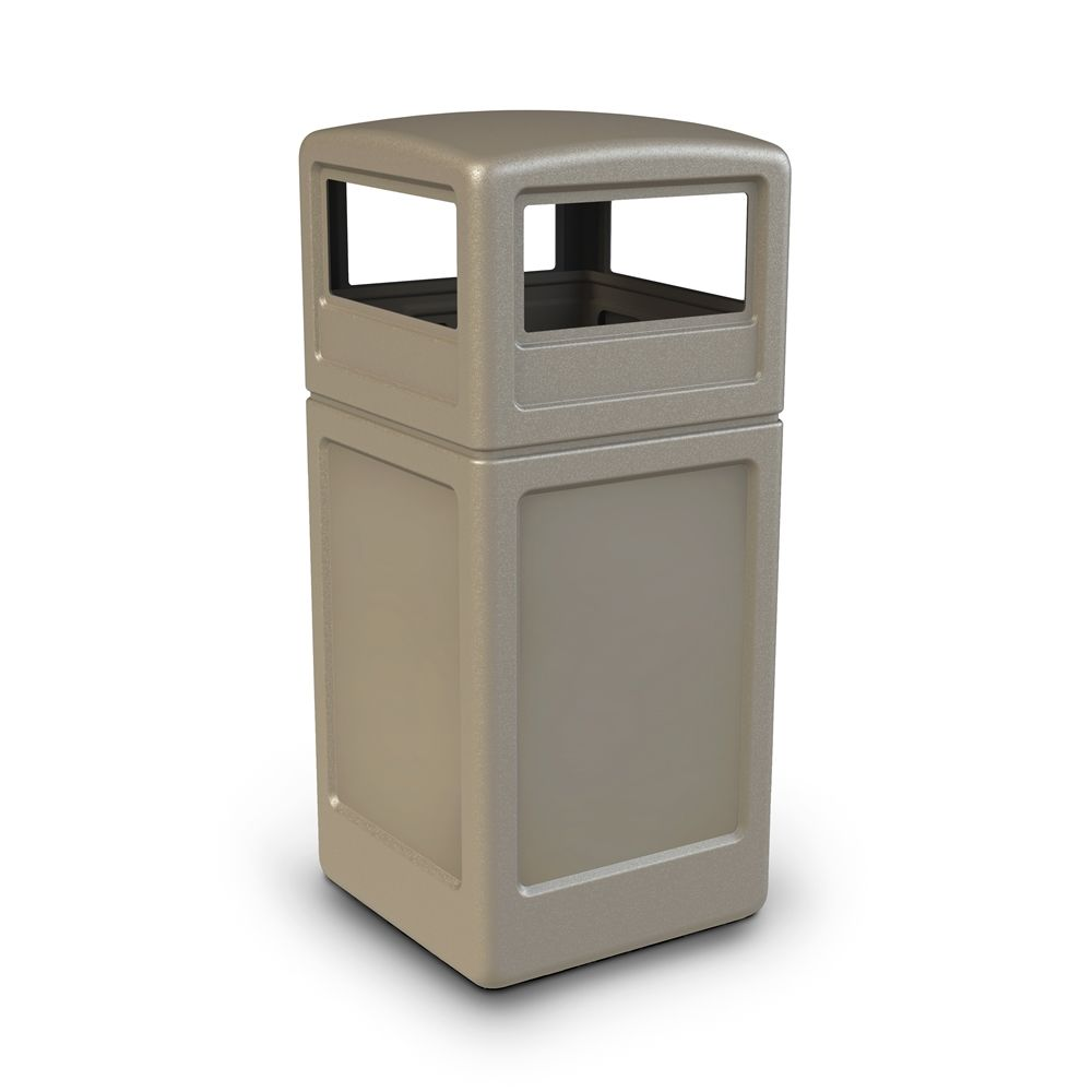 Commercial Zone® PolyTec 42 Gallon Waste Container Dome Lid, Beige