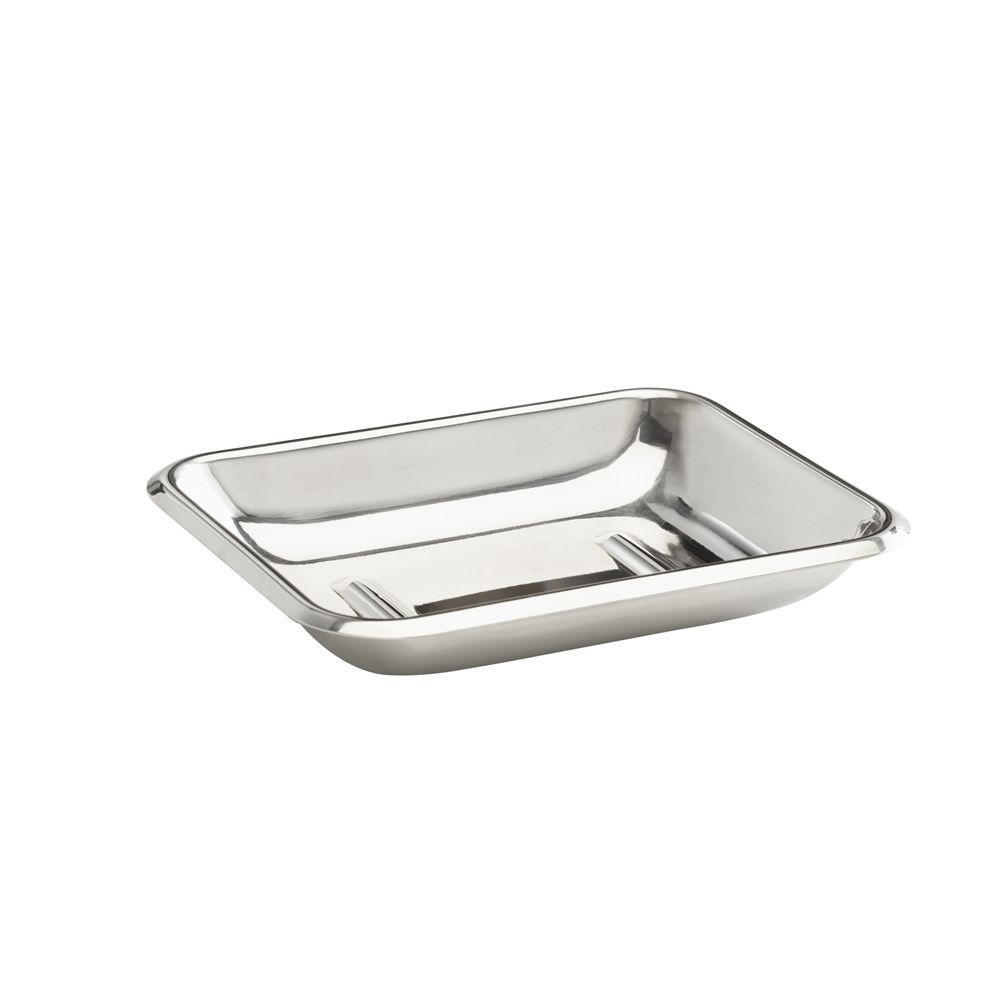 Basic Collection, Soap Dish, Polished Stainless Steel
