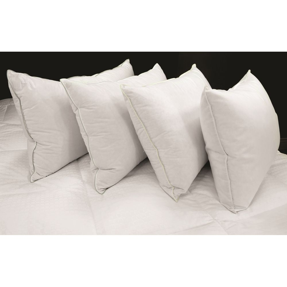 Down Dreams Classic Firm Pillow, Feather & Down Fill, T233 Cotton Cover, Queen 20x30, 47 oz, White