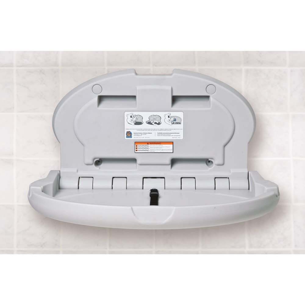Koala Kare® Baby Changing Station, Horizontal Oval, Gray
