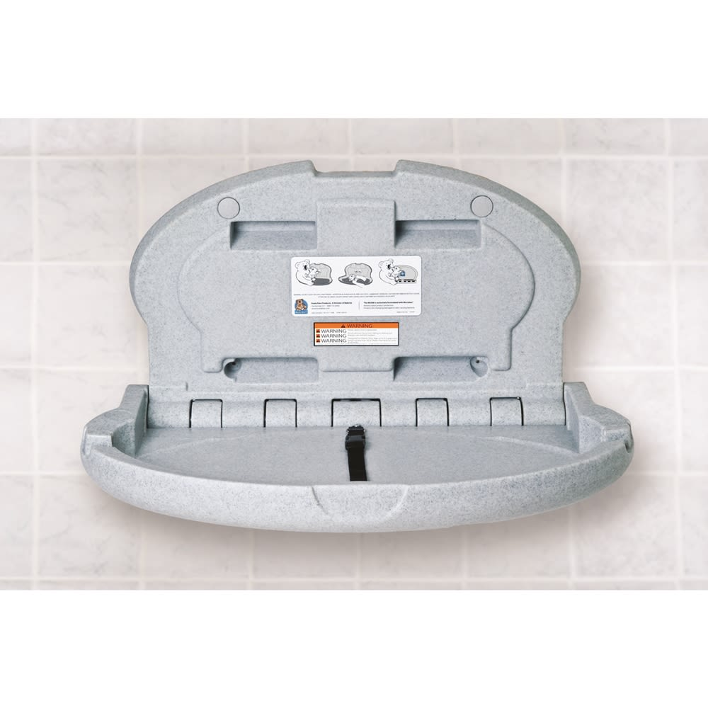 Koala Kare® Baby Changing Station, Horizontal Oval, Gray Granite
