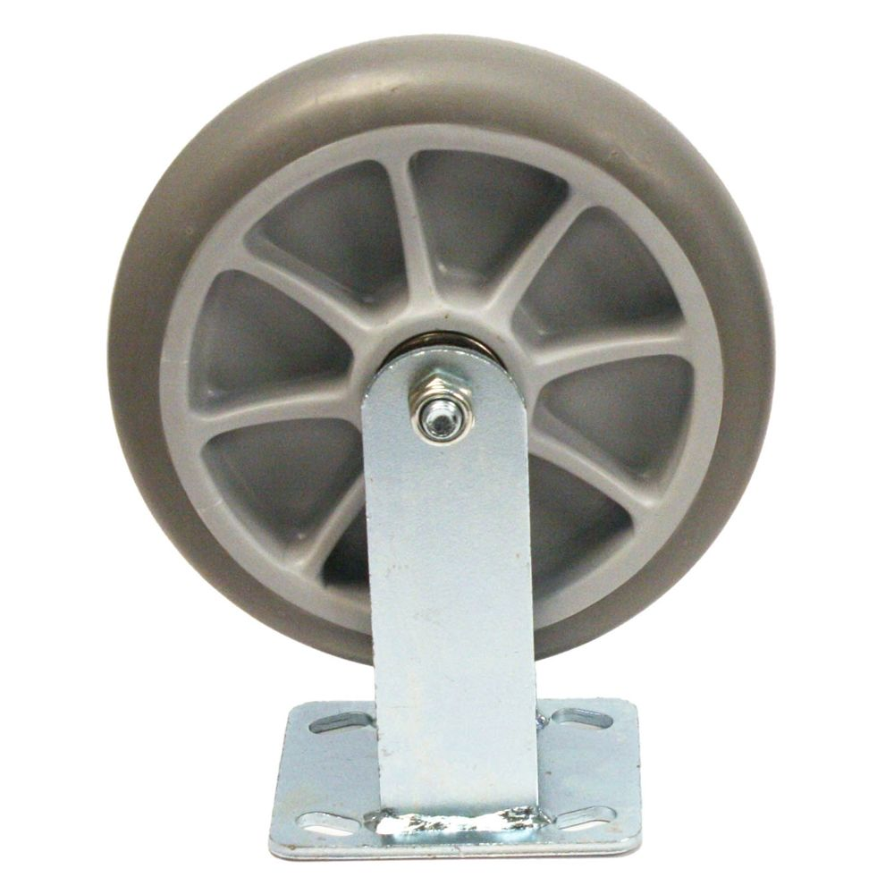 Bellman Cart Replacement Wheel on Rigid Caster, 8in, Gray