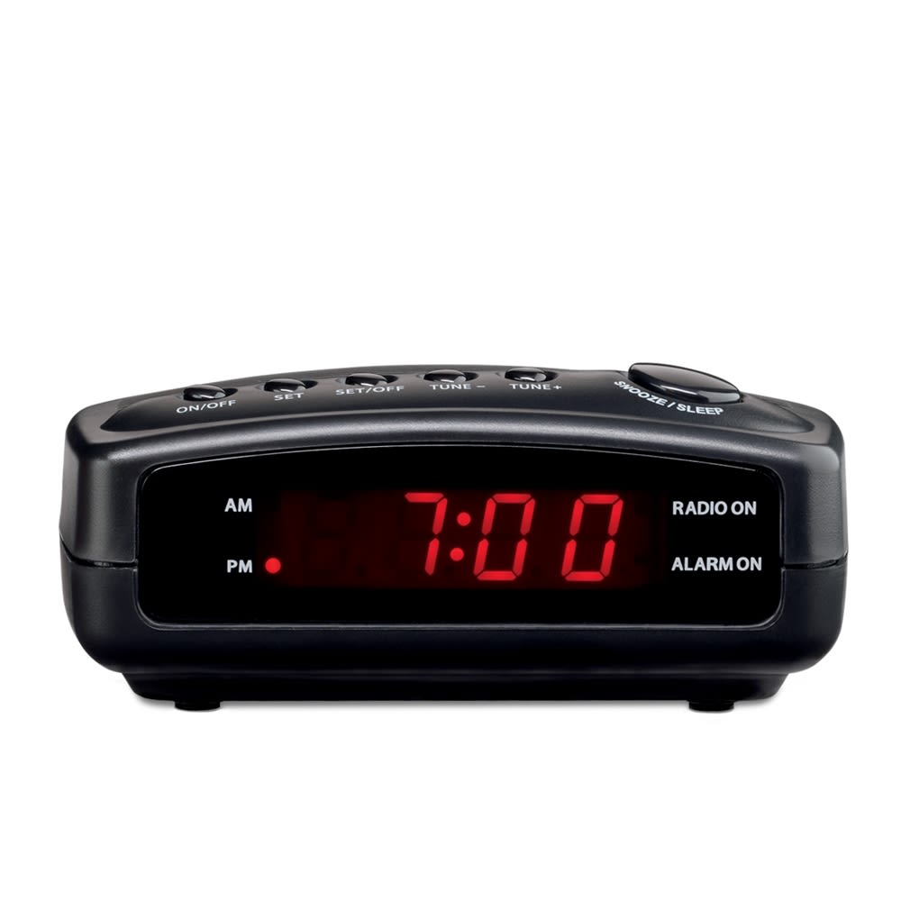 Conair® WCR02 Clock Radio with Single Day Alarm