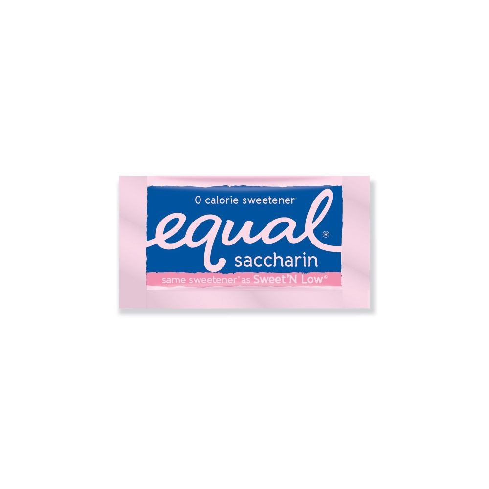 Equal® Saccharin Sweetener, Pink Packets