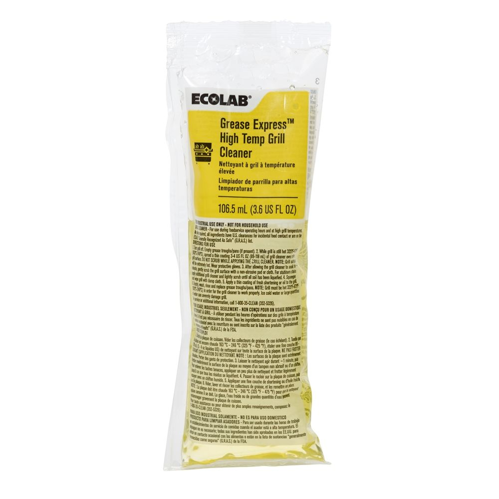 Ecolab® Grease Express High Temp Grill Cleaner 3.6oz Packets