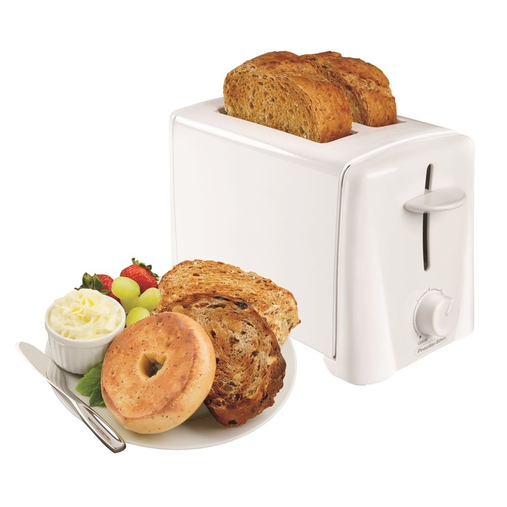 Proctor Silex® 2-Slice Toaster with Auto Shut-Off, White