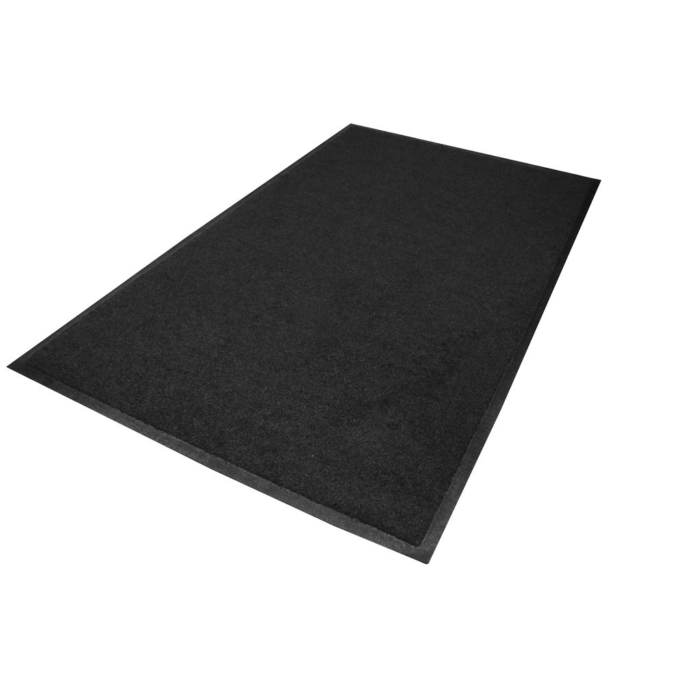 M+A Matting® Brush Hog Scraper Mat, Outside Placement, 4x6, Charcoal, Smooth Backing
