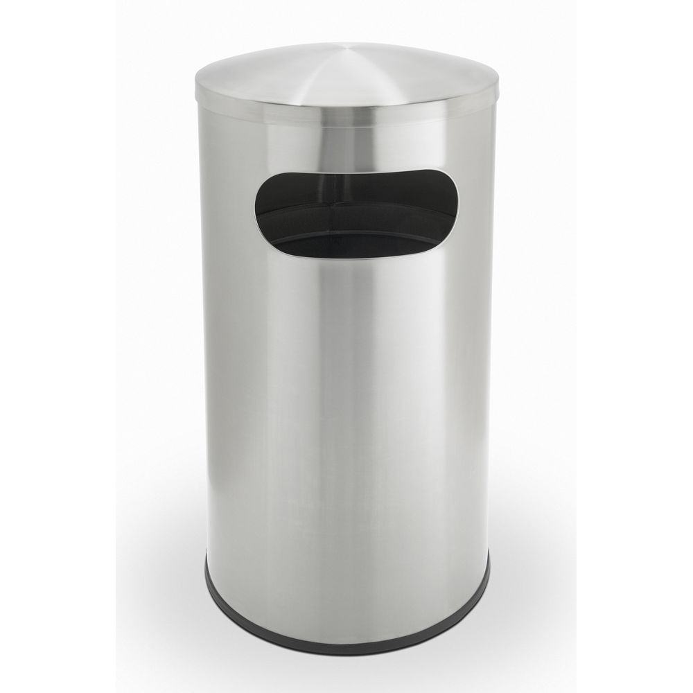 Commercial Zone® Precision Series® 15 Gallon Allure Waste Receptacle Dome Top, Stainless Steel