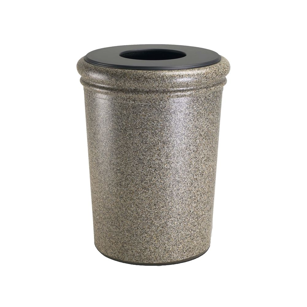 Commercial Zone® StoneTec® 50 Gallon Waste Container Riverstone