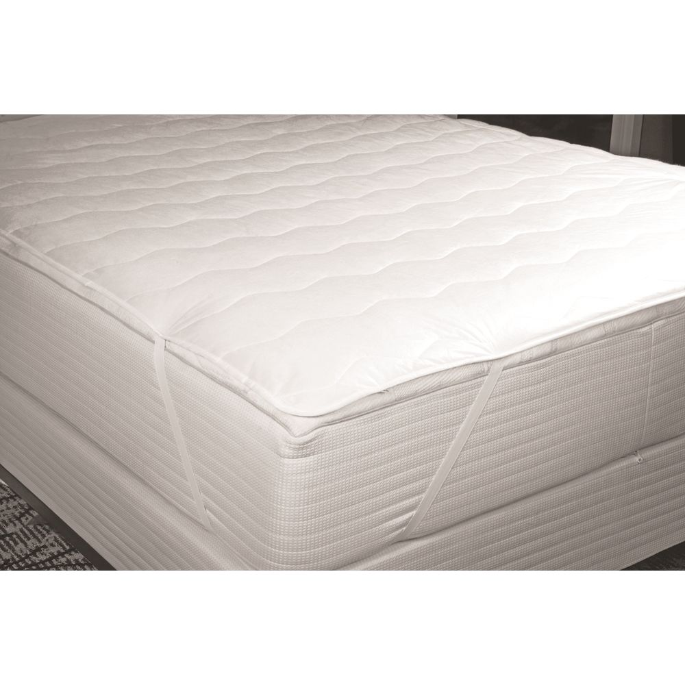 Classic Plus Mattress Pad, Quilted 4oz, Cloth Top & Bottom, Queen 60x80, Anchor Bands