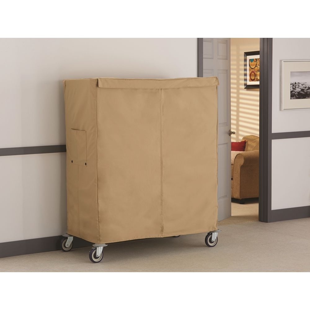 Focus Sure Fit® Linen Cart Cover, 24Wx48Lx54H, Taupe