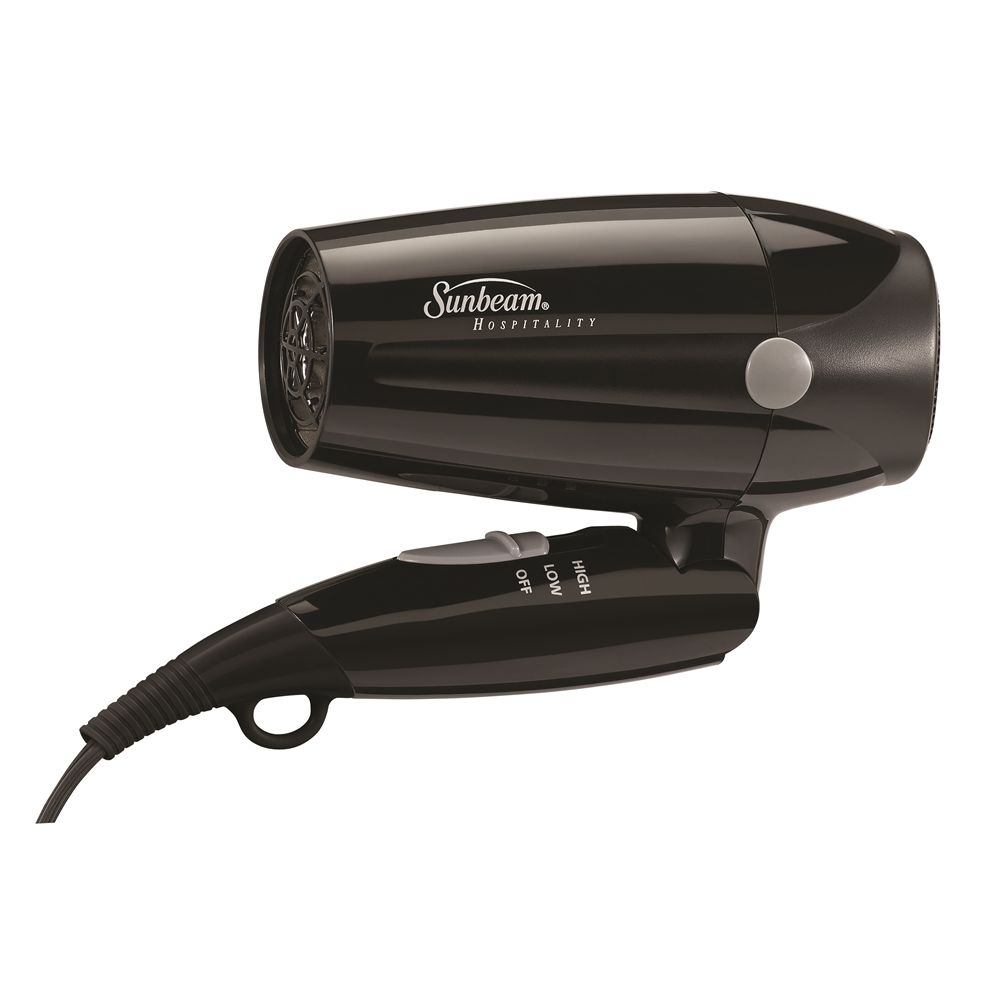 Sunbeam® Folding Handheld Hair Dryer, 1875 Watt, Black