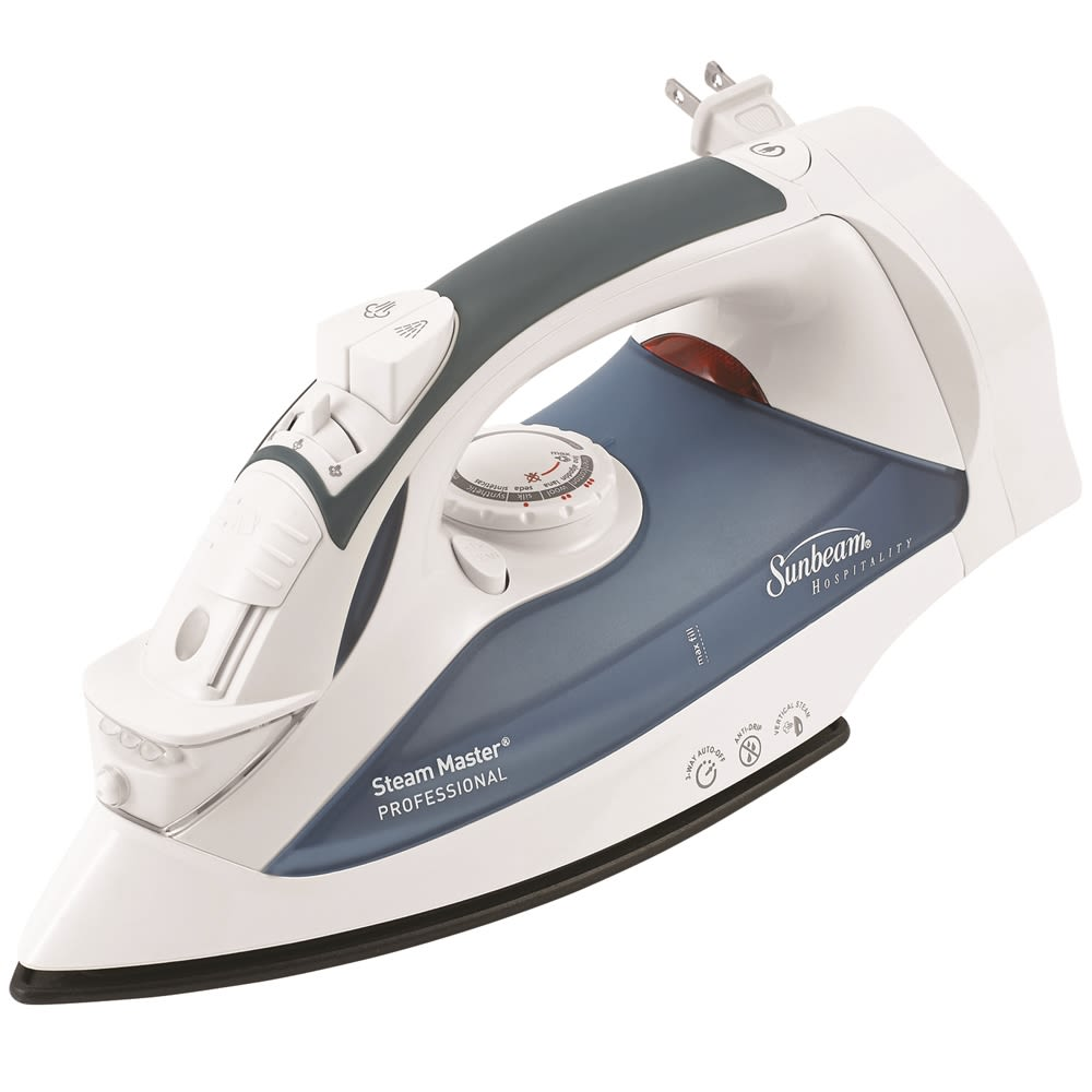 Sunbeam® GreenSense SteamMaster® Full Size Iron w/ClearView & Retractable Cord, White