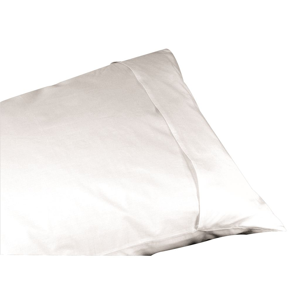 Centex T180 Blend Plain Weave, Queen Pillow Protector 20x30, Envelope Closure, White