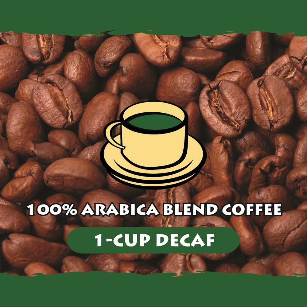 100% Arabica 1-Cup Coffee, Decaffeinated