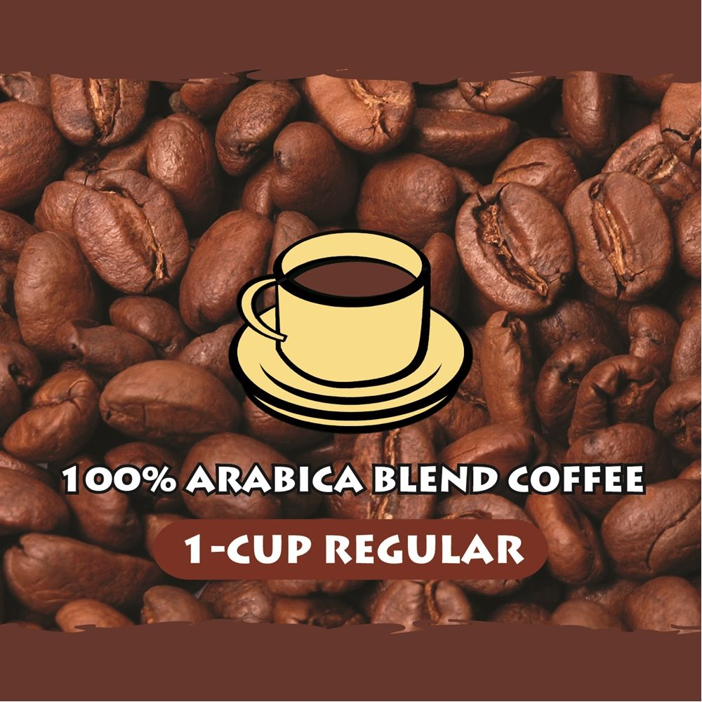 100% Arabica 1-Cup Coffee, Regular