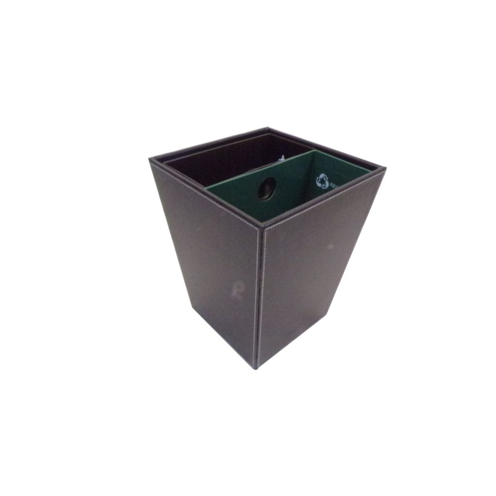 14.5 Quart Dual Chamber Wastebasket/Recycle Bin, Black