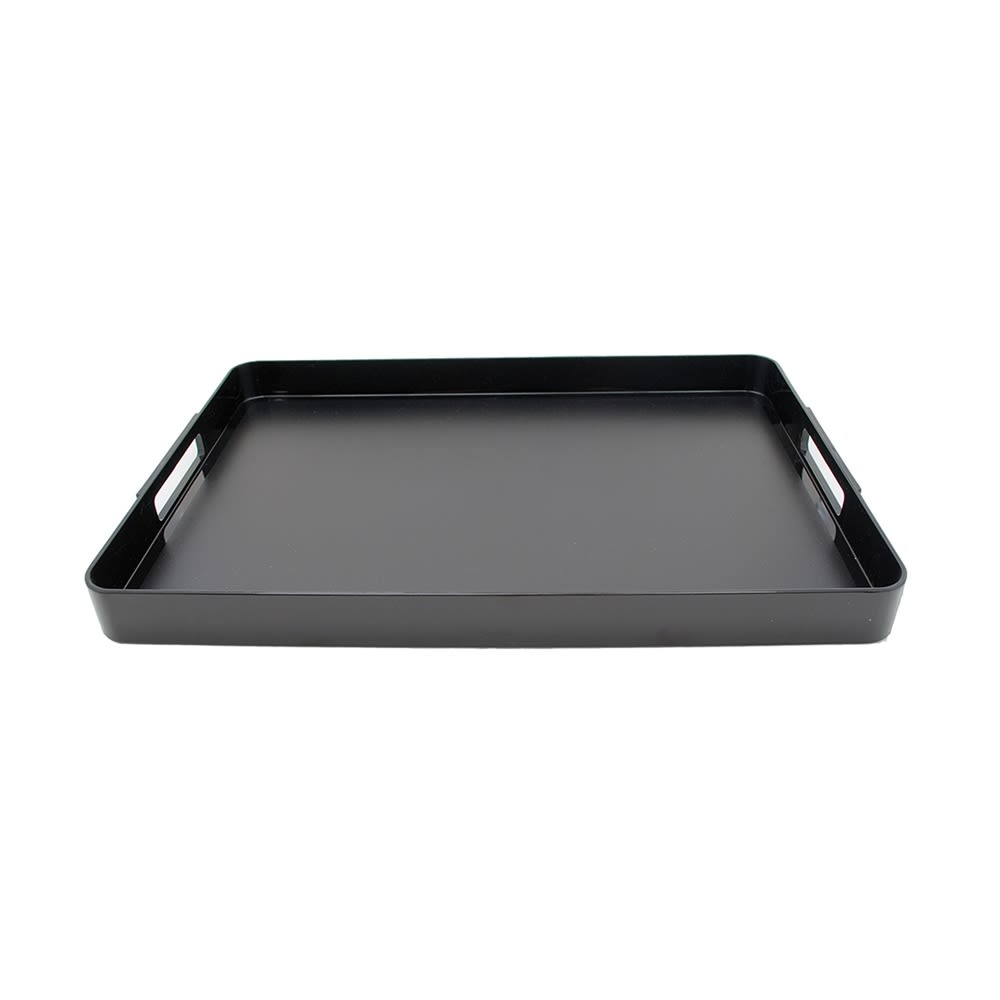 Coffee Service Tray with Handles, Black