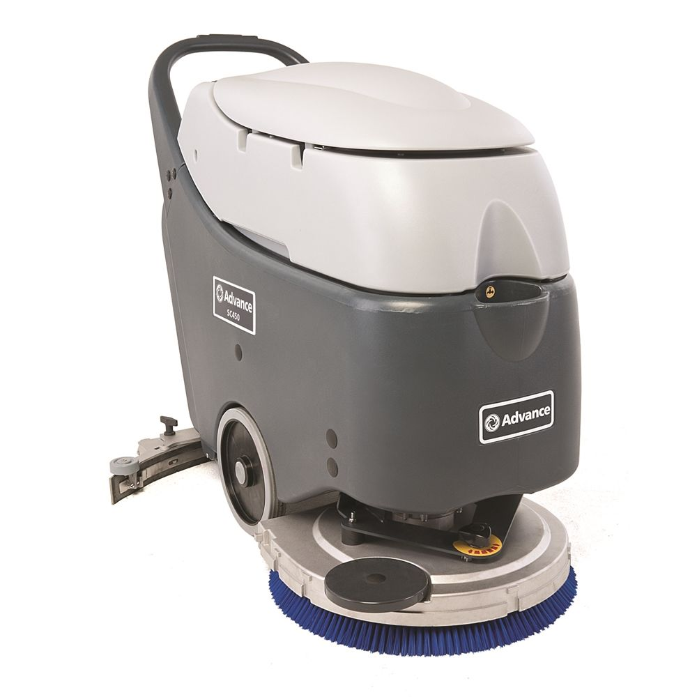 Advance Nilfisk® SC450 Walk-Behind Automatic Scrubber, Wet Batteries, Onboard Charger, 20in