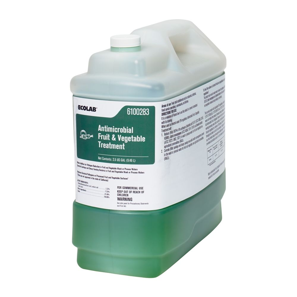 Ecolab® Antimicrobial Fruit & Vegetable Treatment 2.5 Gallon #6100283