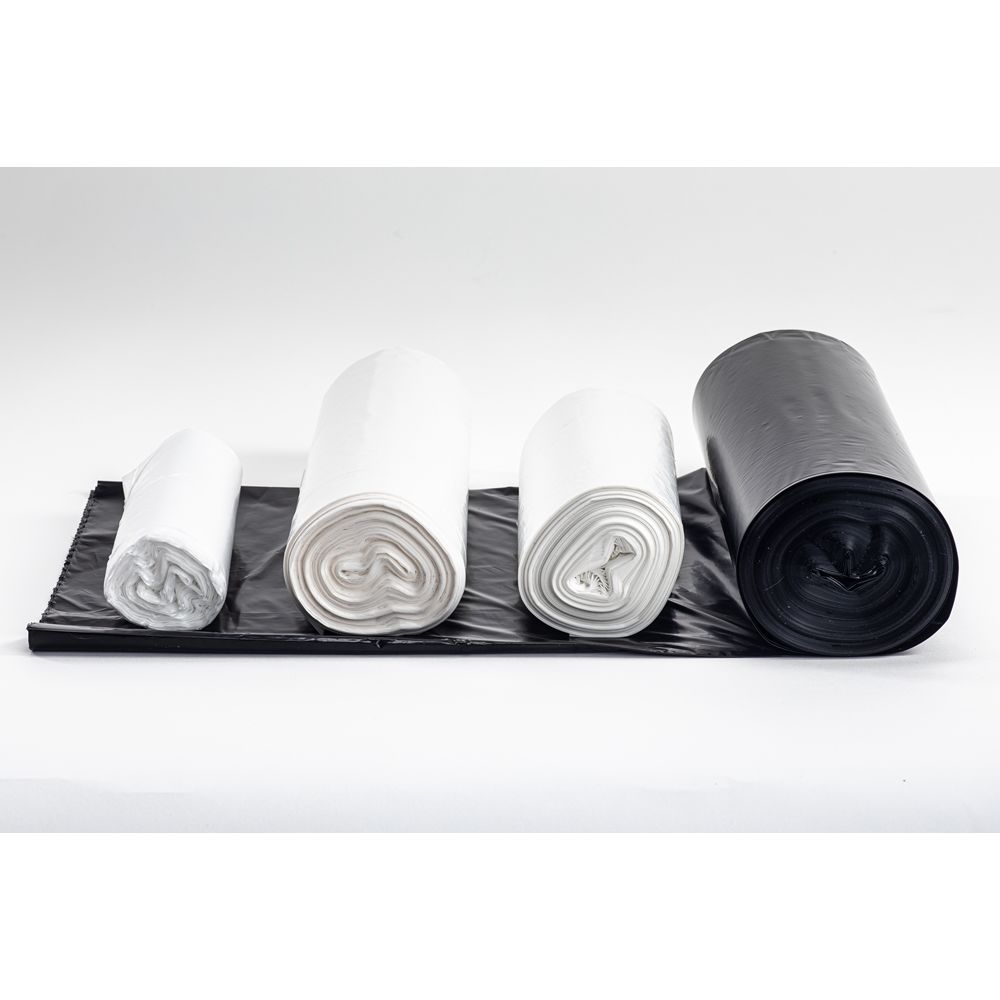 MultiPlast® Can Liner, Bio-Enhanced High Density 38x60 Roll, Natural 14 Micron 60 Gallon