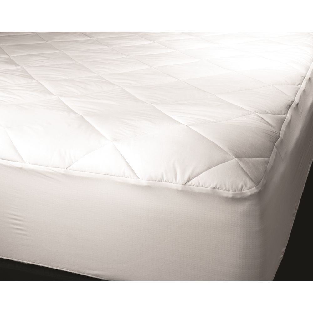 Deluxe Mattress Pad, Quilted 6 oz, Cloth Top & Bottom, King 78x80, Fitted Skirt