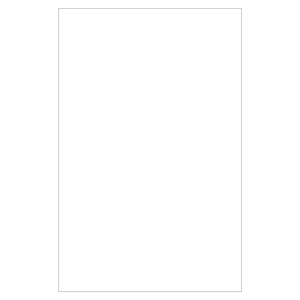 Meeting Room Blank Notepad, White, 10 Sheets