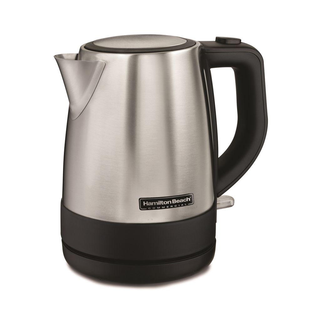 Hamilton Beach® Commercial Stainless Steel Kettle, 1 Liter Capacity, Cordfree Serving & Auto Shutoff