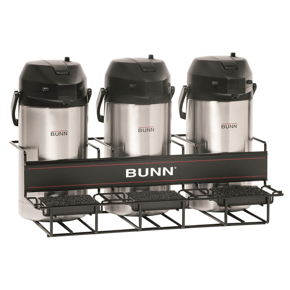 BUNN® Universal Airpot Rack, 3 Lower, Black